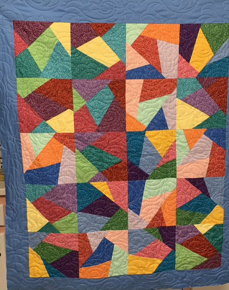 Crazy Colorblocks SHP Quilt by Julie Fredrickson