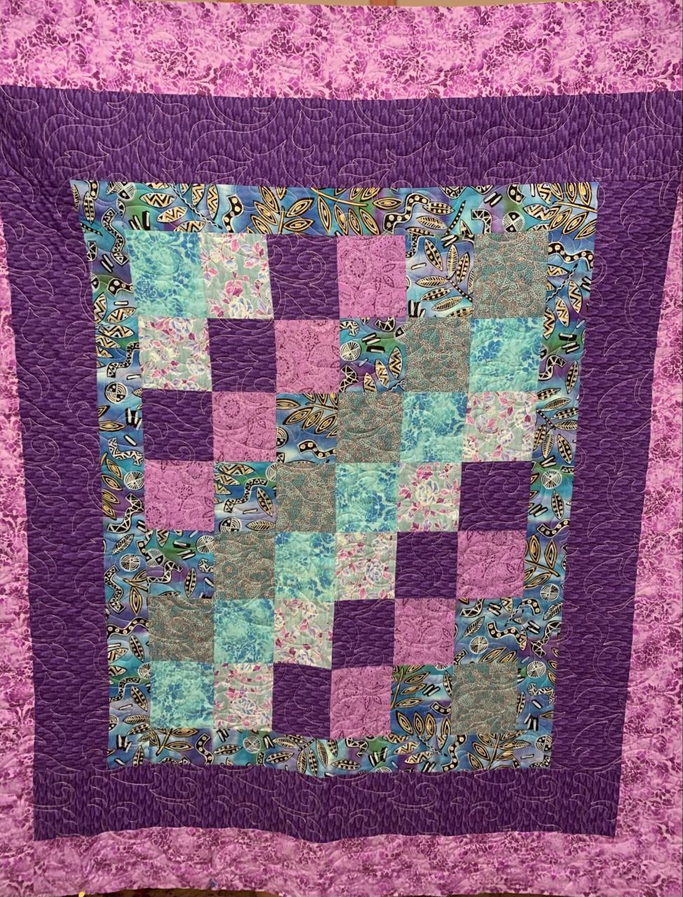 Purple Steps SHP Quilt by Julie Fredrickson