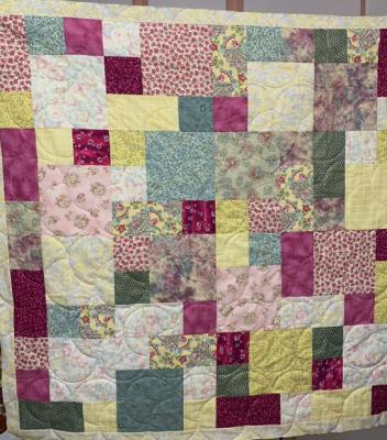 Aqua & Purple SHP Quilt by Julie Fredrickson