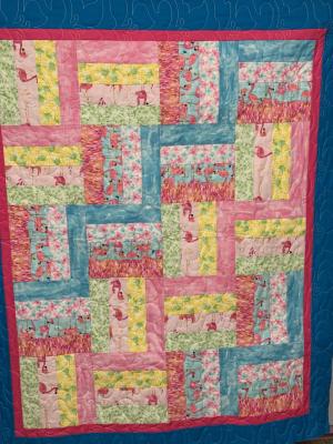 Flamingo Dance SHP Quilt by Julie Fredrickson