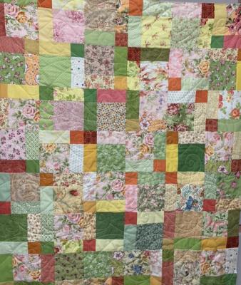 Multi Blocks Banded SHP Quilt by Julie Fredrickson
