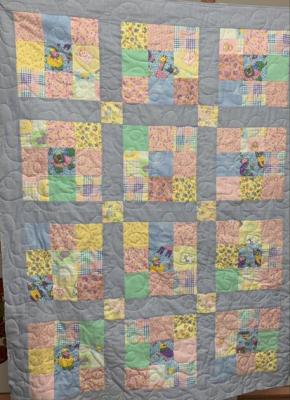 Pastel 9 Sq Blocks SHP Quilt by Julie Fredrickson